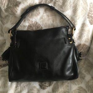 Donney & Bourke  soft black leather shoulder  bag
